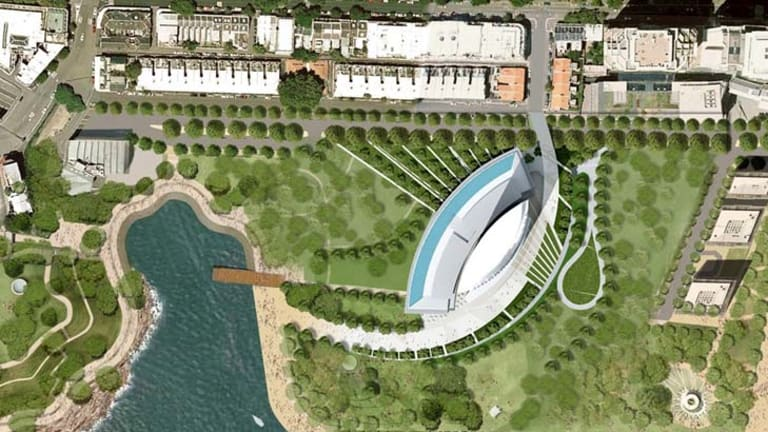 An artist's impression of the site.