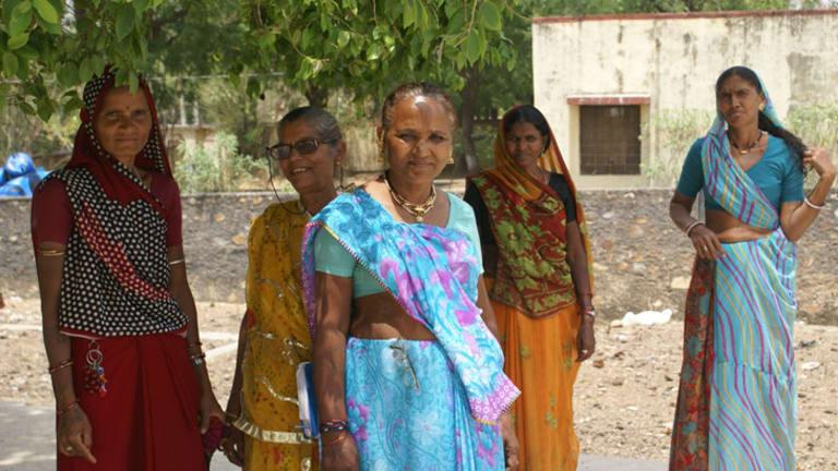 Fighting back: Members of the National Forum for Single Women's Rights (from left)  Kesri, Shanti, Saroju Devi, Meera and Asha.