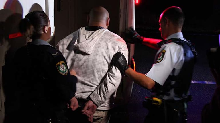Police arrest a man for allegedly trafficking ice.