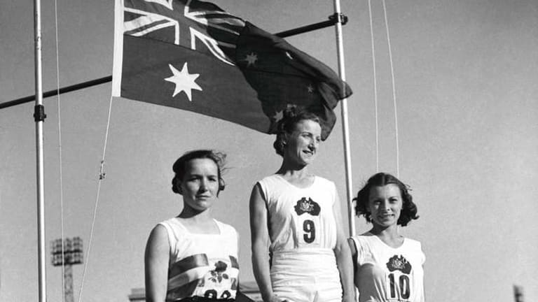 Empire Games Womans broad jump winner Decima Norman on February 17, 1938.