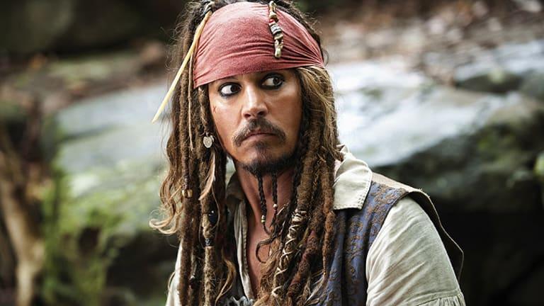Johnny Depp as Captain Jack Sparrow in <i>Pirates of the Caribbean: On Stranger Tides</i>.