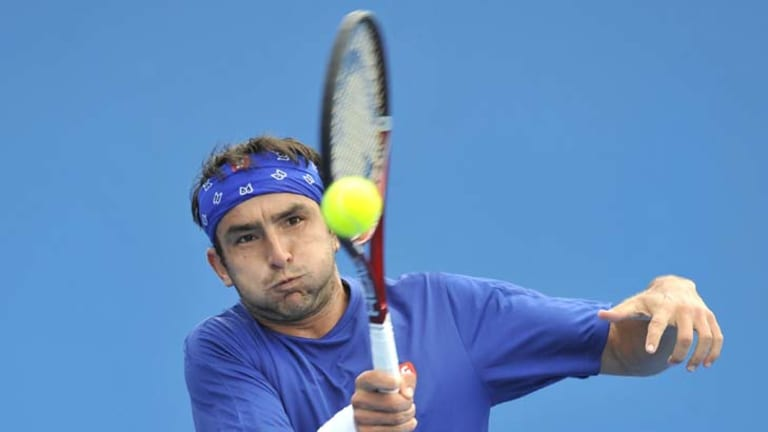 Marinko Matosevic playing in Australia during the summer.