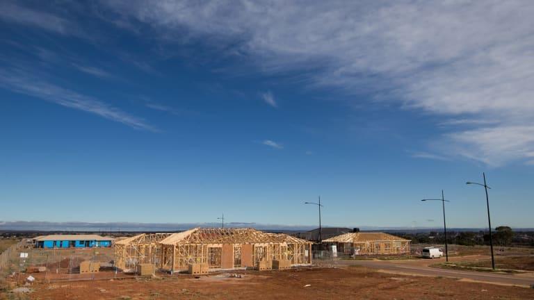 The Riverina Rise housing development in Melton South.