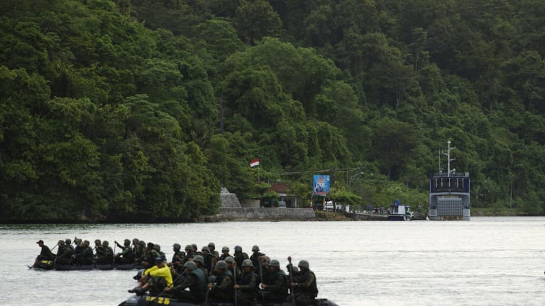 The execution island of Nusakambangan.