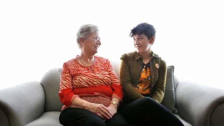 Marian Neal (left) helped Brienna Macnish make her audio tour, <i>Home</i>.