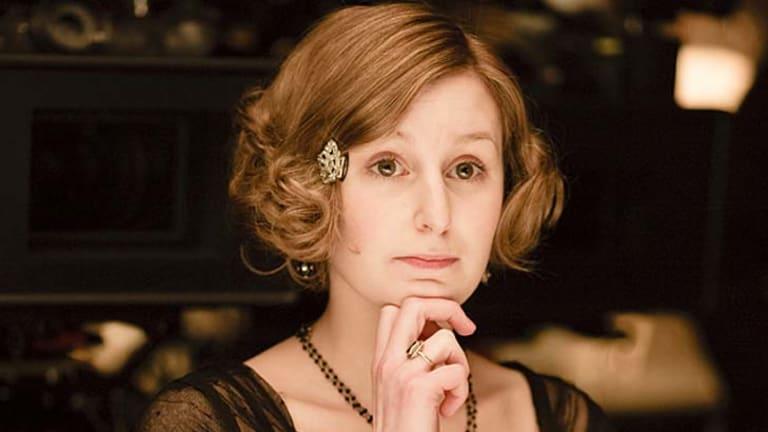 Downton Abbey ... Lady Edith Crawley is played by Laura Carmichael.