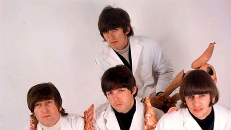 """Controversial ... the Beatles' """"butcher"""" cover for <em>Yesterday and Today.</em>"""
