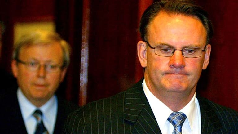 """""""You're getting into the realm of evil there"""": Former Labor leader Mark Latham isn't a fan of Kevin Rudd."""