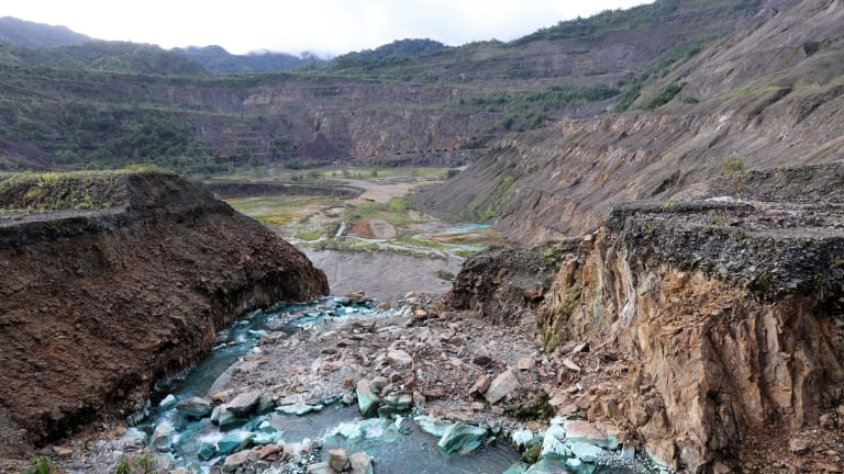 The abandoned Panguna copper mine in Bougainville – once a rich source of profits – sparked a costly environmental and social crisis.