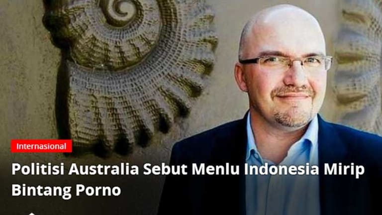 Textor's comments lead the hompage of popular Indonesian news website Kompas.com.