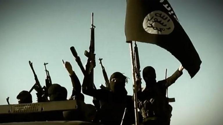 This Islamic State propaganda image shows the jihadists operating in Iraq in March.