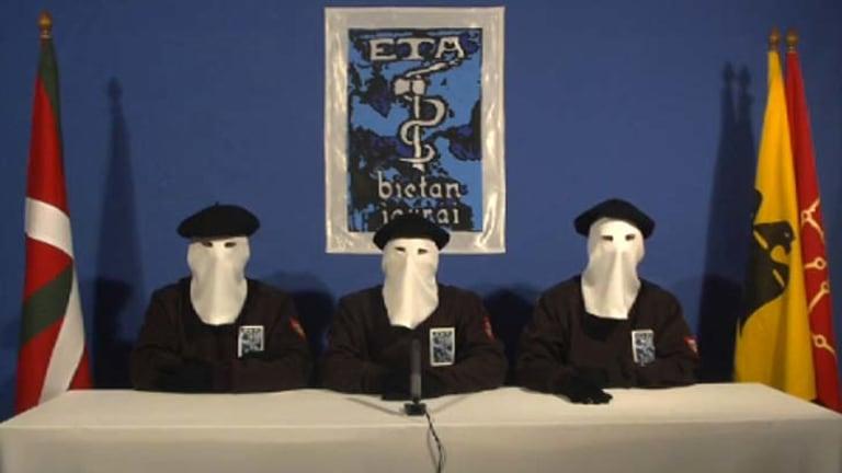 Under pressure … ETA leaders renounce violence in the video.