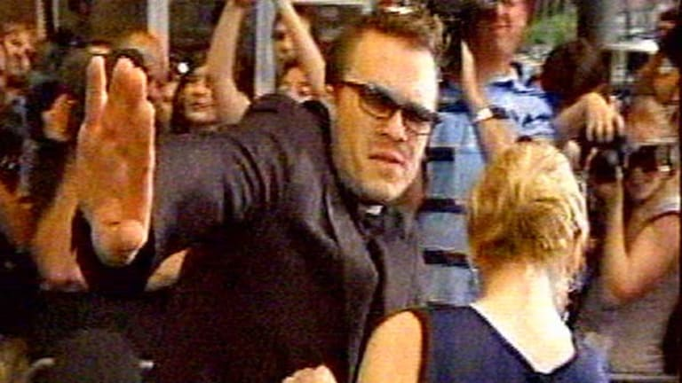 The water pistol incident with Heath Ledger.