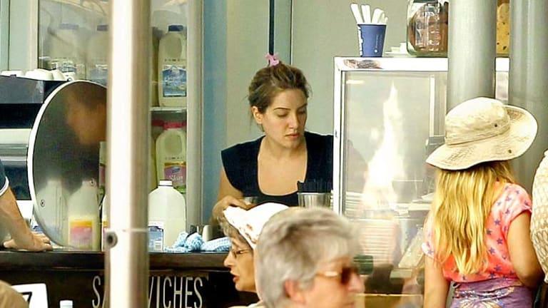 Daily grind: Eddie Obeid's great-niece May Schibaia at work at Arc Cafe, Circular Quay.