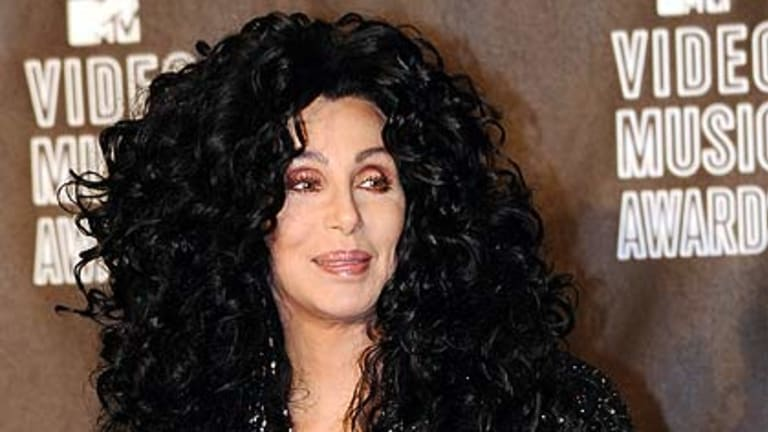 Cher dressed down for the MTV Video Music Awards in 2010.