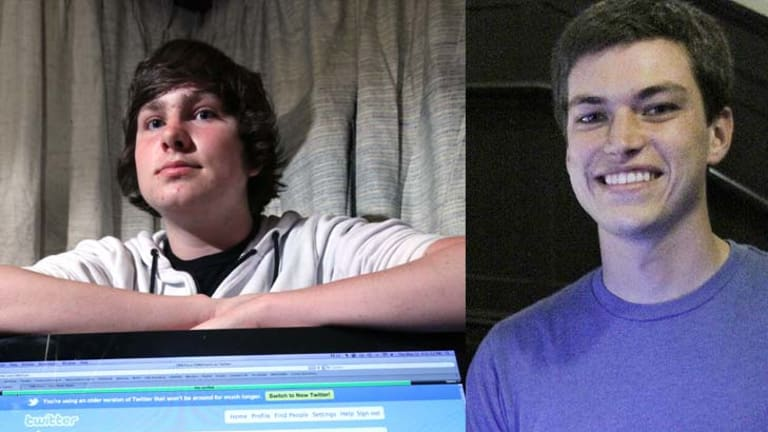 At odds ...  Adorian Deck, 17,  and Emerson Spartz, 24.
