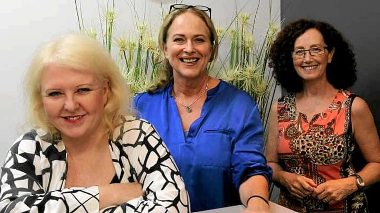 Denise Roberts CEO, Sarah Chadwick Administrator and Di Smith Co-Ordinator, all working for Screenwise  in Sydney.