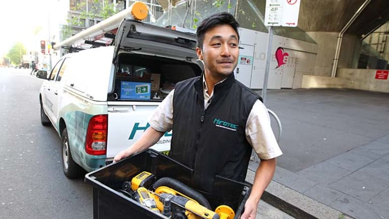''Wasting their time'': Off-street parking is not an option for electrician Chan Vongsarath.