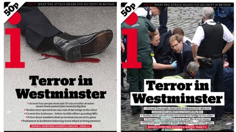 The first front page, and the second, from i.