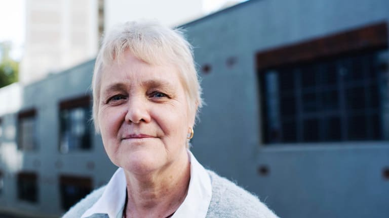 'Things could get a lot harder for people like me and my workmates': Kay Rault outside the Fair Work Commission in Sydney