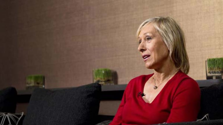 Considers herself lucky . . . Martina Navratilova this week.