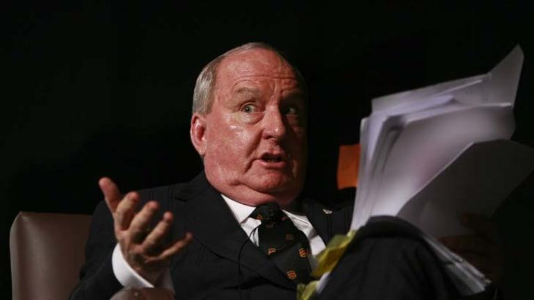 Cash for comment ... Alan Jones.