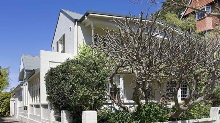 Wiston Gardens, Double Bay. The house is valued at $5 million. Mr Keddie's share was transferred to his wife for $1.