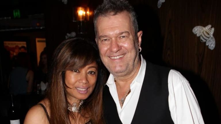 Multicultural family: Jimmy Barnes with his wife, Jane.