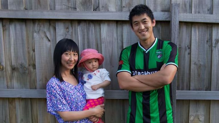 Chinese-born Ming Liu, with his wife Jing and baby Anabelle, has noted cultural misunderstandings but not discrimination.