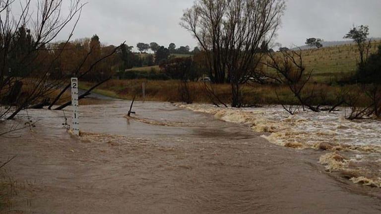 Flooding in Tarana, near Bathurst.
