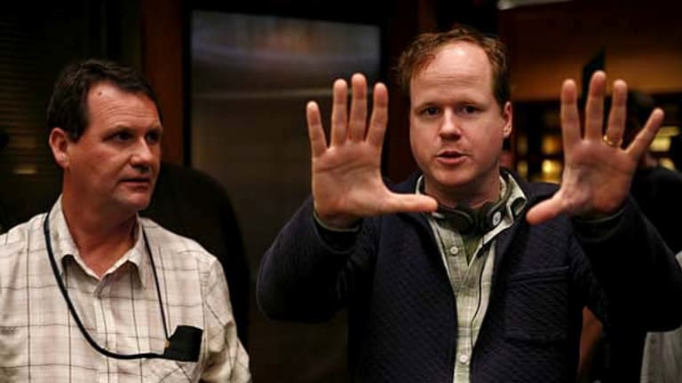 Cult favourite ... TV creator Joss Whedon, pictured on the set of Dollhouse, has experienced his fair share of career ups and downs.