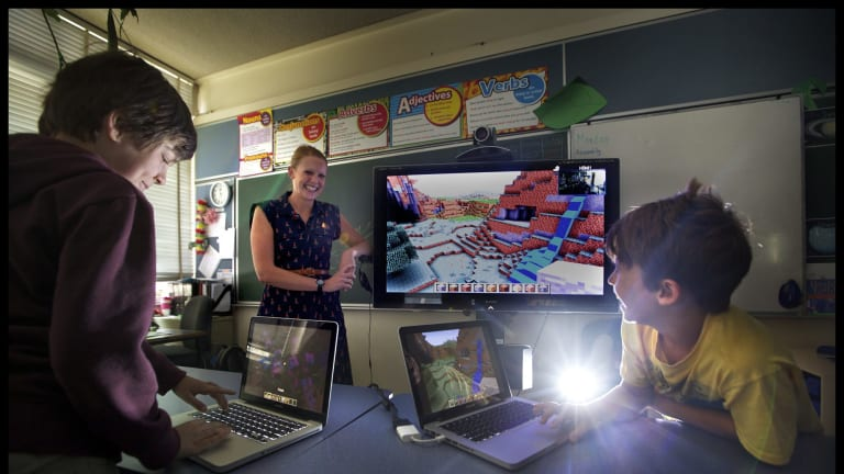 Switched on: Rebecca Martin has embraced gaming technology in her North Fitzroy classroom.