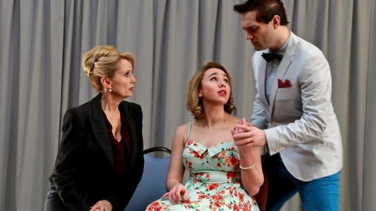Michele Lansdown (left), Melody Beck and Blake Erickson prepare to take Stalker: The Musical to the New York International Fringe Festival.