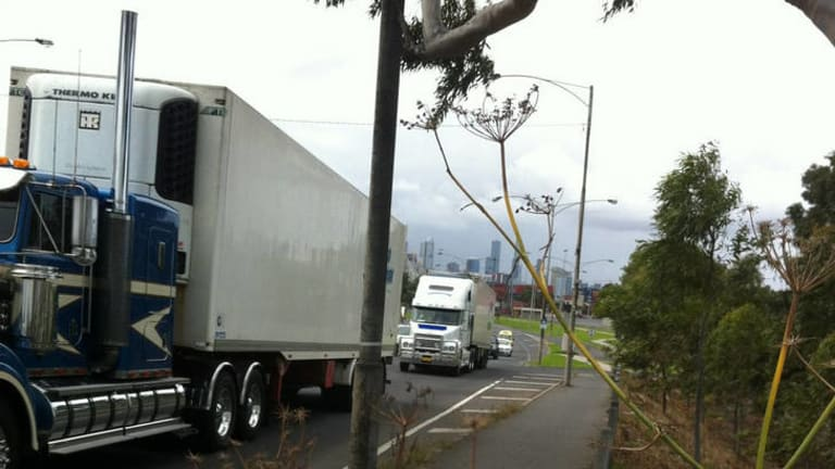 A cycling black spot at Shepherd Bridge, Footscray.