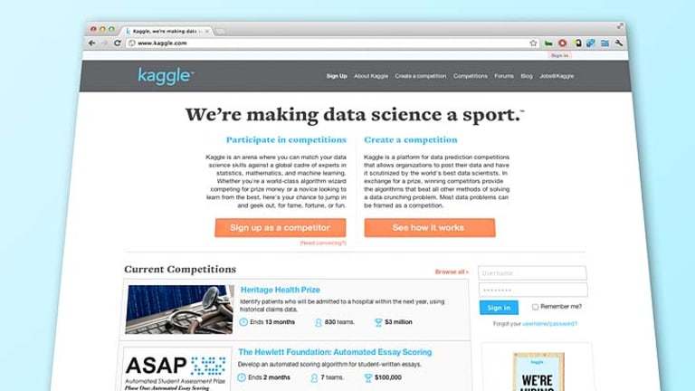 The Kaggle website.