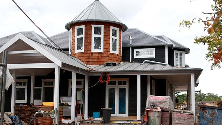 After: The house was knocked down and rebuilt by Cameron McCullagh after a heritage order was listed.