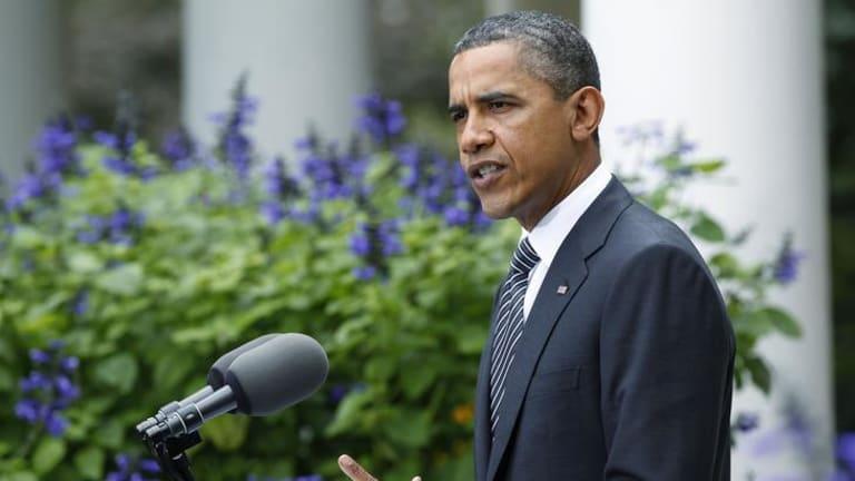 Momentous day ... US President Barack Obama