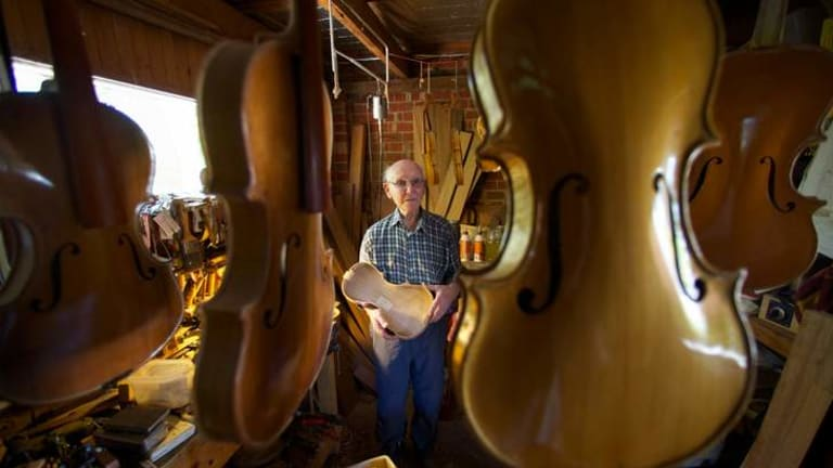 After switching from furniture to stringed instruments, Tom Ferguson hasn't looked back, producing more than 100 violins, among other instruments.