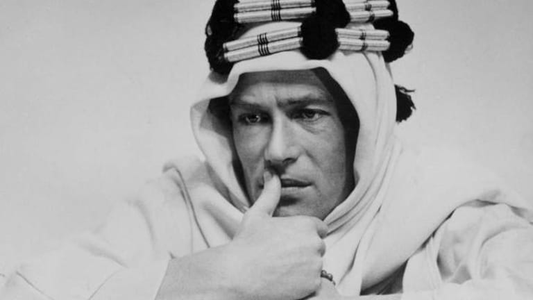 Most famous role: Peter O'Toole as Lawrence of Arabia.