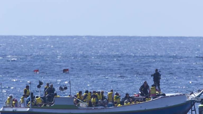 """""""It is people smugglers who are responsible for deaths at sea"""" ... opposition immigration spokesman Scott Morrison."""