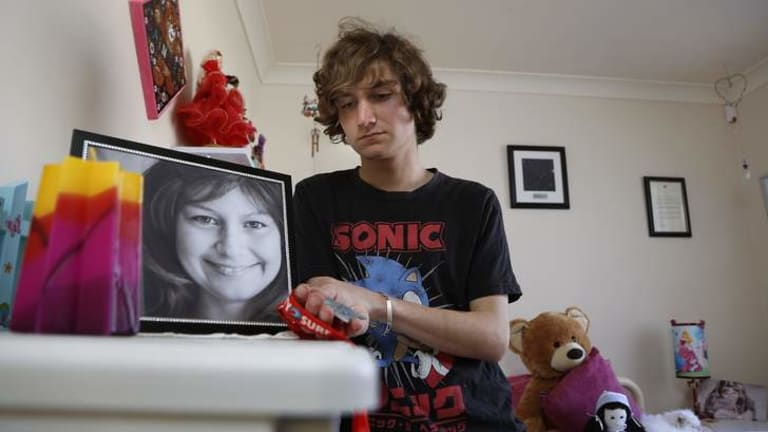 Jarrett Anthoney of Gungahlin after raising about $50,000 in the Sydney City2Surf in memory of his sister Dainere Anthoney, pictured, who passed away with an inoperable brain tumour.