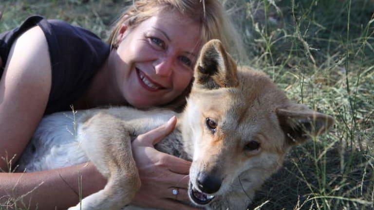 Angels or devils? … Parkhurst says she always felt safer with dingoes around her.