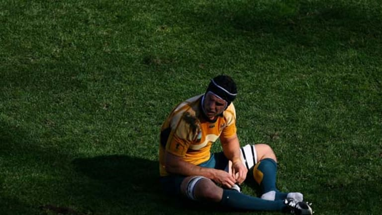 Painful memory ... Dan Vickerman after the 2007 World Cup quarter-final loss to England in Marseilles.