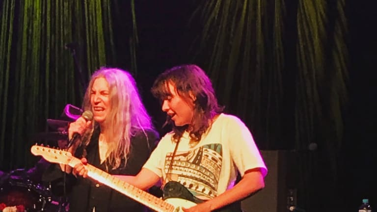 Patti Smith and local darling Courtney Barnett shared a special moment during Smith's anniversary tour.