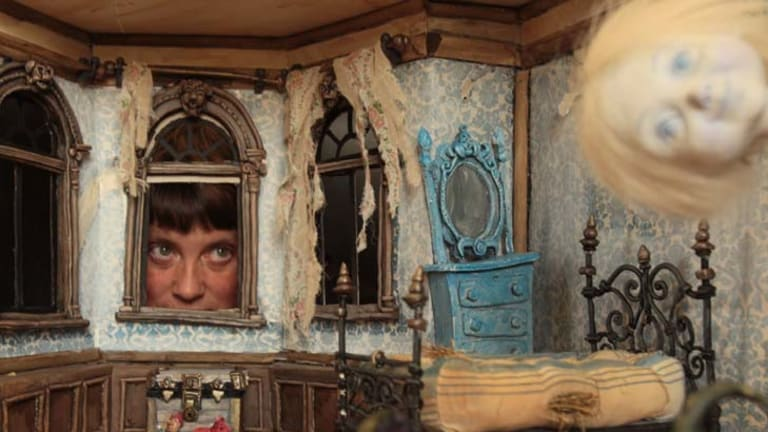 Curiouser and curiouser ... children's author Sarah Davis created a crumbling Victorian mansion to illustrate Sounds Spooky.