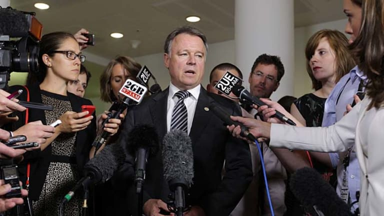 Standing down: Chief Government Whip Joel Fitzgibbon.