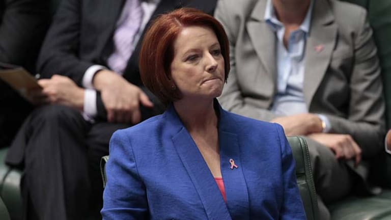 Julia Gillard made an impassioned speech against Tony Abbott's motion to remove Peter Slipper as Speaker.
