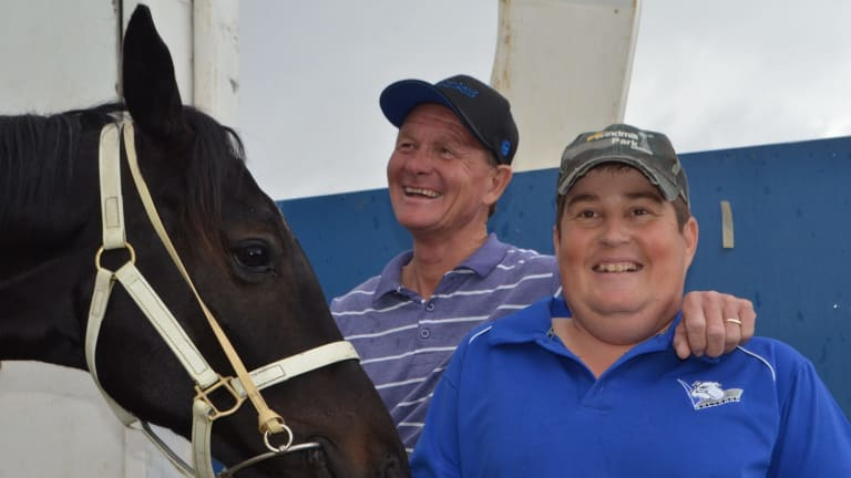 Horse stories: Peter Sinclair, 50, and his son Nathan, 26.