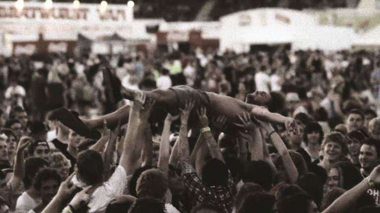 All together now: A crowd-surfing still from The Crowd by Jon Frank.
