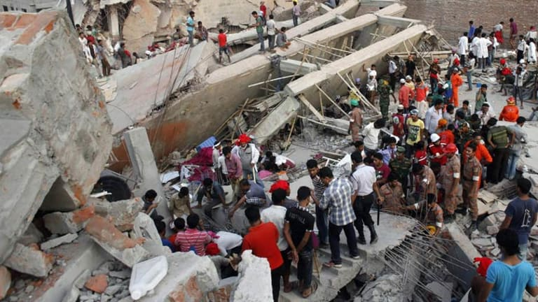 More than 1100 people died after a garment factory collapsed.